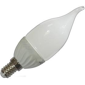Lâmpada E14 VELA Decorativa LED Ponta Torcida Opalina 4w - LP-LEDCHAMA004