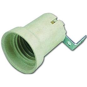 Suporte Lâmpada E27 Ceramico C/Patilha Lateral GSC - ME-SUPORTE06