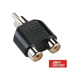 Adaptador RCA Femea - 2x RCA Macho - 44030315