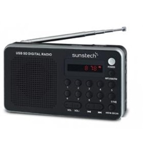 RADIO + LEITOR CARTOES SUNSTECH RPDS32SL PRATA - 1402.0901