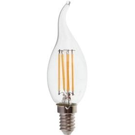 Lâmpada E14 VELA Decorativa LED Filamento Ponta Torcida 4w - LP-LEDCHAMA012
