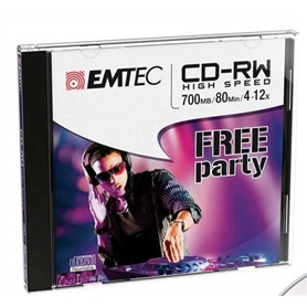 MG CD-RW INF JEWEL CASE EMTEC 700MB - 80 MIN - 12X - 1603.2404
