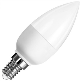 Lâmpada E14 VELA LED 5,5w Branco Quente - LP-LEDCHAMA006