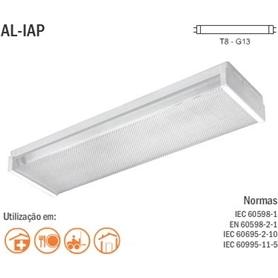 Armadura Acrilica P/Fluorescente  60cm 2x18w - AA218S