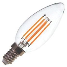 Lâmpada E14 VELA Decorativa LED Filamento  2w Branco Quente - LP-LEDCHAMA011