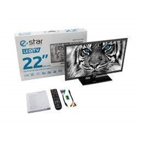 """_TV 22"""" LED ESTAR LEDTV22D1T1 FUNCIONAMENTO 12V e 230V - 1603.2407"""
