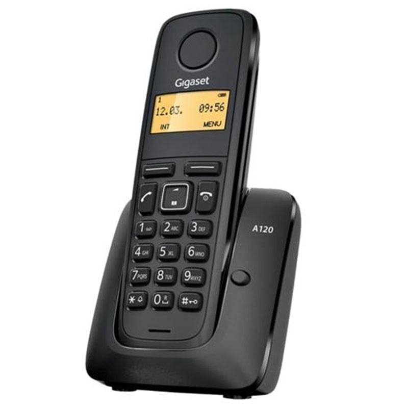 TELEFONE SEM FIO SIEMENS GIGASET A120 PRETO - 1605.1702