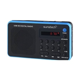 RADIO + LEITOR CARTOES SUNSTECH RPDS32BL AZUL - 1507.0104
