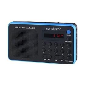 RADIO + LEITOR CARTOES SUNSTECH RPDS32BL AZUL - 1507.0104