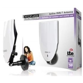 Antena TV Interior e exterior Konig com filtro LTE - OUT112 - 1608.0301
