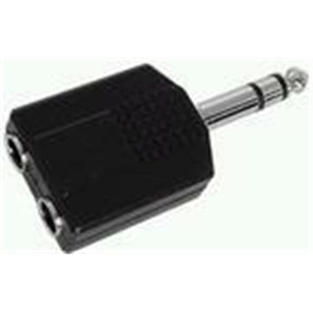 Adaptador 6,3mm Macho Estereo - 2x 6,3mm Femea Estereo - 53040155