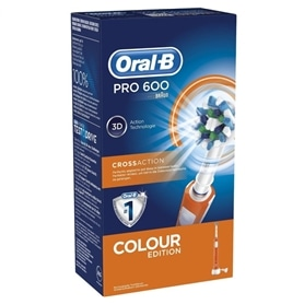 Dental Braun Oral B Pro 600 CrossAction Laranja - BRA-DENTAL20