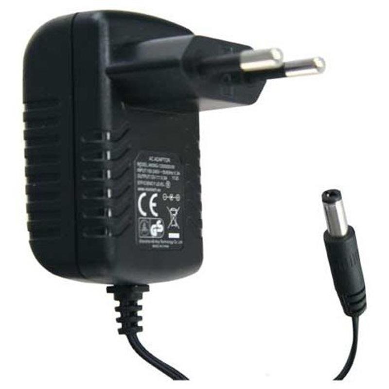 Transformador 230V->12V DC 2,0 Amp Preto - TRA-220V_12VDC04
