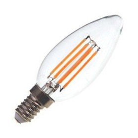Lâmpada E14 VELA Decorativa LED Filamento  4w Branco Quente - LP-LEDCHAMA009