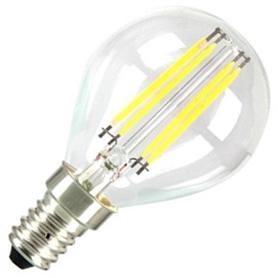 Lâmpada E14 P45 Gota LED Filamento 4w Branco Quente - LP-LEDE14010