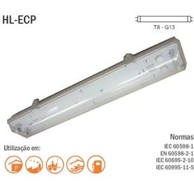 Armadura Estanque P/Fluorescente 60cm 1x18w - AAE118S