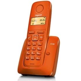 TELEFONE SEM FIO SIEMENS GIGASET A120 LARANJA - 1611.1573