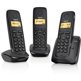 TELEFONE SEM FIO SIEMENS GIGASET A120 TRIO PRETO - 1611.1577