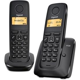 TELEFONE SEM FIO SIEMENS GIGASET A120 DUOS PRETO - 1611.1574