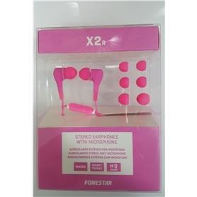 PHONES STEREO COM MICROFONE FONESTAR X2R ROSA - 1703.3007