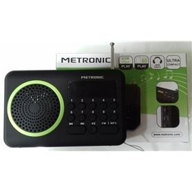 RADIO BOLSO METRONIC MET450 C/BATERIA+LEITOR CARTOES VERDE - 1704.0725