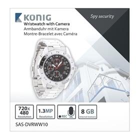 RELOGIO COM CAMERA VIDEO INCORPORADA KONIG SAS-DVRWW10  8GB - 1703.