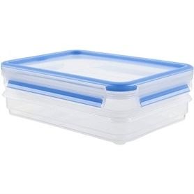 Caixa Alimentos Tefal Clip&Close Retang Plas 2x0,6L K3028812 - 1704.1260