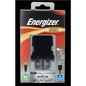 CARREG VIAG DUPLO USB->MICRO USB+SAMS ENERGIZER STAND 1A - 1411.1307