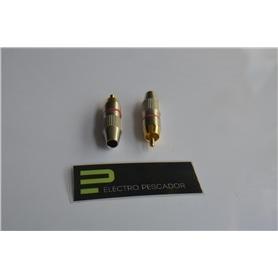 Ficha RCA Macho HQ Gold Vermelha - 44030164