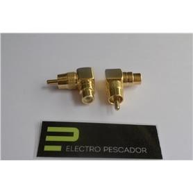Adaptador RCA Macho - RCA Femea 90º - 44030322