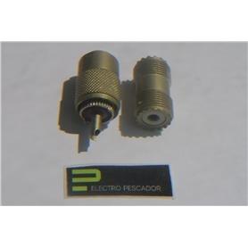 Ficha CB Adapt PL-259 F-F *** - 44010200
