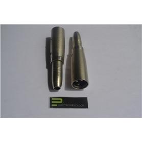 Adaptador XLR Macho - 6,3mm Femea Estereo - 44020289