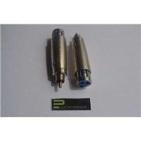 ADAPTADOR XLR FEMEA -RCA MACHO - 53040040
