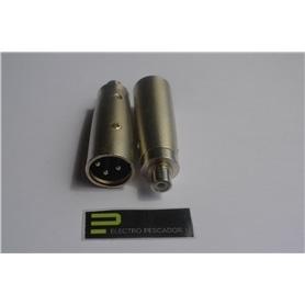 Adaptador XLR Macho - RCA Femea - VHPXLR50