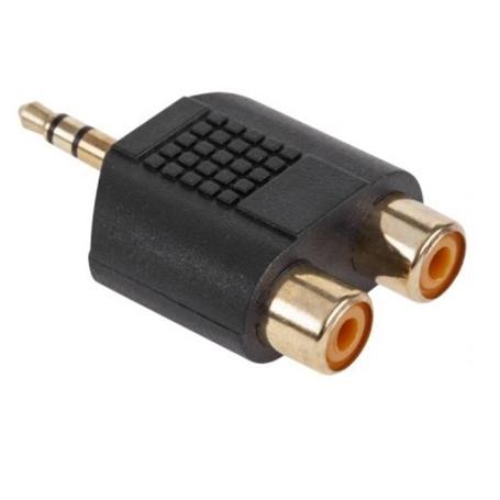 Adaptador 2x RCA Femea - Jack 3,5mm Macho Estereo - 53040165