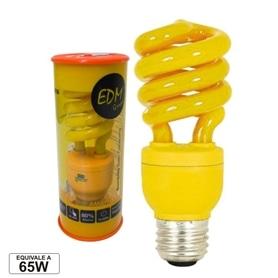 Lâmpada E27 CFL 13w Amarela - LPE27AM
