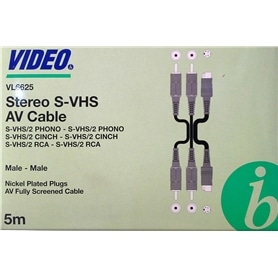 Cabo S-Video+2 Rca M-M 5mt BD VL6625 - BAN-SVIDEO001
