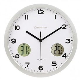 Relógio de Parede Analógico c/Display Manta Epsilon CLK005 - 1706.2750