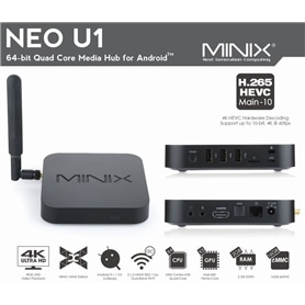 MINI PC BOX - ANDROID TV MINIX NEO-U1 + COMANDO A2LIGHT - 1706.2697