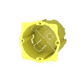 Caixa Aparelhagem para Pladur Dupla Amarela - ME-CX01