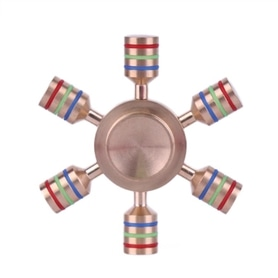 FIDGET SPINNER ORIGINAL: RAINBOW 6PIN PINK - 1706.2499