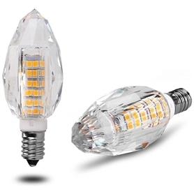Lâmpada E14 VELA Decorativa LED Cristal 7w Branco Quente - 1707.0754