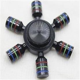 FIDGET SPINNER ORIGINAL: RAINBOW 6PIN BLACK - 1606.2497