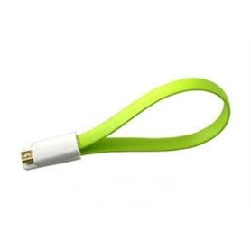 CABO DADOS USB<->MICROUSB PLANO 20 CM PONTAS MAGNÉTICAS - 1706.3097
