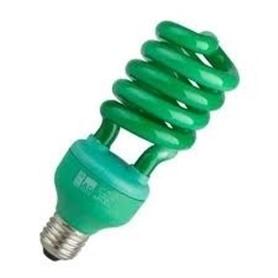 Lâmpada E27 CFL 13w Verde - LPE27VD