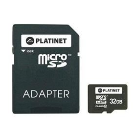 CARTAO MICRO SD 32GB+ADAPT SD CLASSE 10 PLATINET - 1708.1702