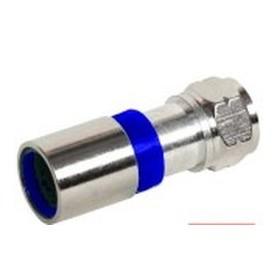 Ficha Tipo F 6,4mm para cabo 7mm RG6 e RG59 de Compressão - 44010541