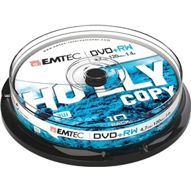 MG DVD+RW CAKE BOX EMTEC  4,7GB - 16X  - 120MIN : 10UNIDADES - 1603.2903