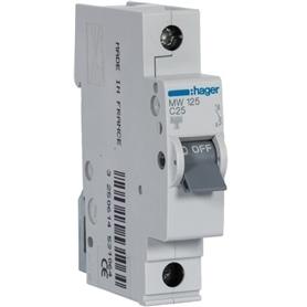Disjuntor 1x25Amp/3000A MW125 ### - DJ025