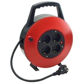 Extensão Com Enrolador 4 Tomadas 3X1,0mm - 10Metros - EXT-ENROL10MT